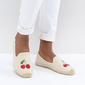 Soludos Cherries Smoking Slippers Espadrilles Flat